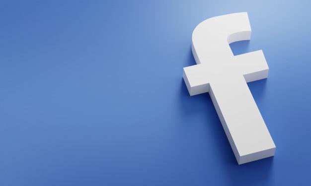facebook logo minimal simple design template copy space 3d 1379 4868