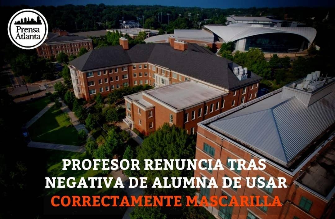 PROFESOR RENUNCIA TRAS NEGATIVA DE ALUMNA DE USAR CORRECTAMENTE MASCARILLA